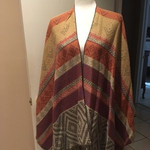 Multi-Color Reversible Poncho